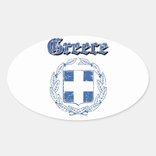 Designer för GrungeGrekland vapensköld Klistermärken
