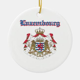 Designer för GrungeLuxembourg vapensköld Julgransprydnad Keramik