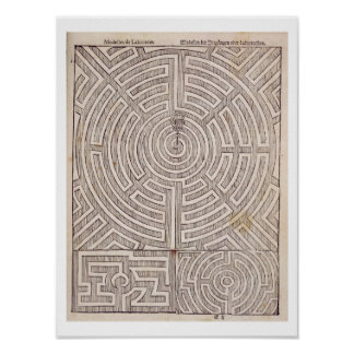 """Designer för mazes, från """"den holländska trädgårds poster"""