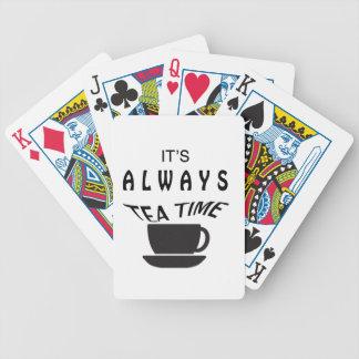 Dess alltid Tea Time Spel Kort