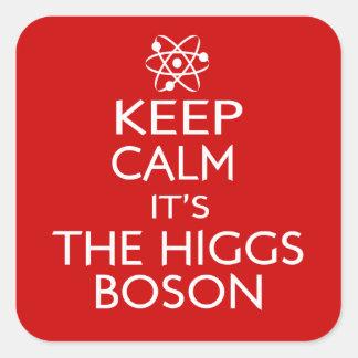 Dess behållalugn den Higgs bosonen Fyrkantigt Klistermärke