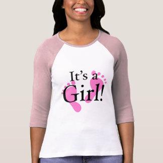 Dess en flicka - baby som är nyfödd, baby shower tshirts