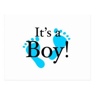 Dess en pojke - baby som är nyfödd, firande vykort