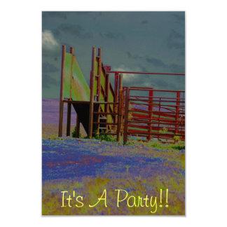 Dess ett party 8,9 x 12,7 cm inbjudningskort
