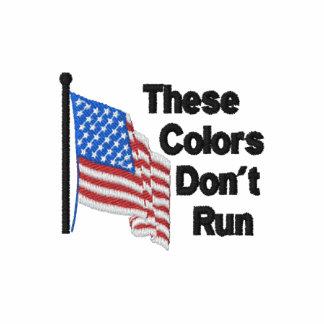 Dessa färger kör inte patriotiskt pikétröjor
