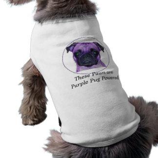 Dessa tassar är driven purpurfärgad mops hundtröja
