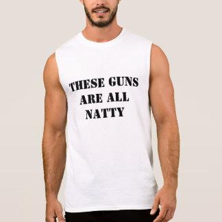 Dessa vapen är alla prydliga sleeveless tröja