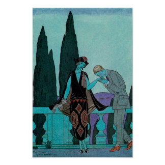 d'Este för villa för vintageart décoLa av George Poster