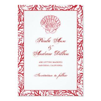 Destinationsbröllop spara datum 12,7 x 17,8 cm inbjudningskort