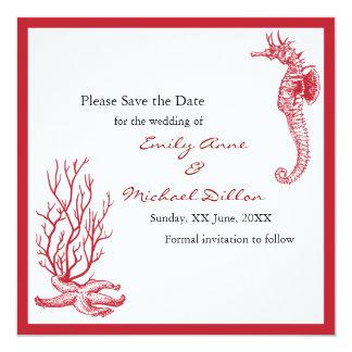 Destinationsbröllop spara datum fyrkantigt 13,3 cm inbjudningskort