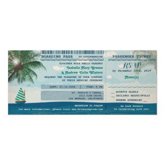 Destinationsbröllopinbjudan och OSA 10,2 X 23,5 Cm Inbjudningskort
