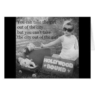 Destinerade Hollywood Hälsningskort