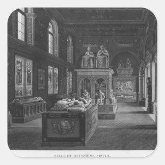 Det 15th århundraderummet, Musee des-monument Fyrkantigt Klistermärke