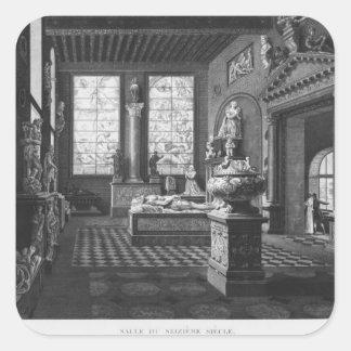 Det 16th århundraderummet, Musee des-monument Fyrkantigt Klistermärke