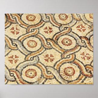 Det abstrakt golv belägger med tegel mönster i den poster