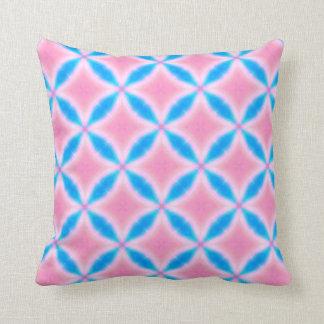 Det abstrakt mönster av rosor och blått kvadrerar kudde