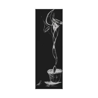 Det abstrakt stearinljuset röker canvastryck
