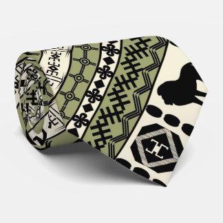 Det afrikanska motiv, den diagonala designen, slips