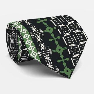 Det afrikanska motiv, den vertikala designen, slips