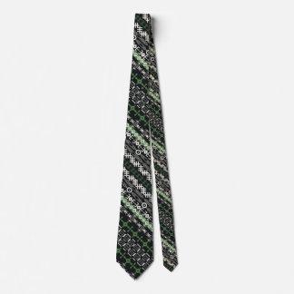 Det afrikanska motiv, lodrätrandar, grönt, slips