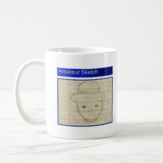 Det amatörmässiga troll skissar kaffemugg