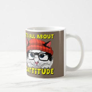 Det är All om Cattitude Kaffemugg