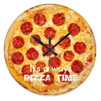 Det är alltid PIZZA TIME Stor Klocka