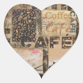 Det är Coffeetime Hjärtformat Klistermärke