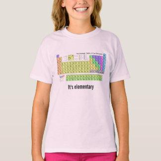 Det är den elementära periodiska bordkemigeeken t-shirts