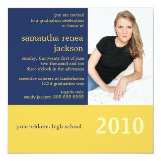 Det är din årsstudenteninbjudan (marinen) fyrkantigt 13,3 cm inbjudningskort