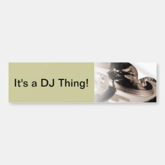 Det är en DJ-sak! Bildekal