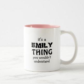 Det är en Emily sak som du skulle för att inte Två-Tonad Mugg