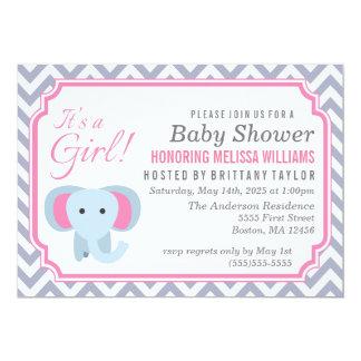 Det är en flicka! Baby showerinbjudan 12,7 X 17,8 Cm Inbjudningskort