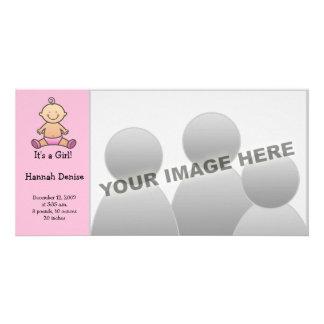 Det är en flicka! Babytillkännagivande för födelse Fotokort