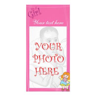 Det är en flicka fotokort