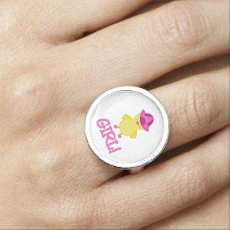 Det är en hatt för flickaDuckie rosor Ringar