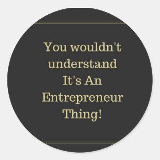 Det är en klistermärke för entreprenörsakrunda