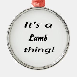 Det är en lambsak! julgransprydnad metall