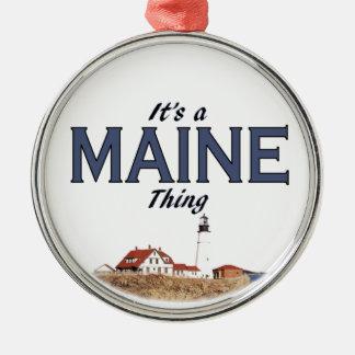 Det är en Maine sak: Det Portland huvudet tänder Julgransprydnad Metall