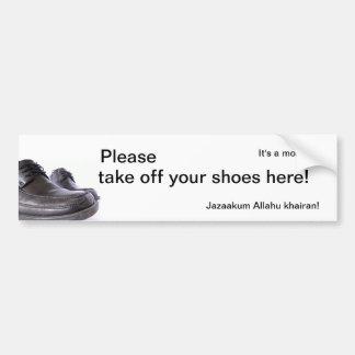 Det är en moské - behaga tar av ditt skor här! bildekal