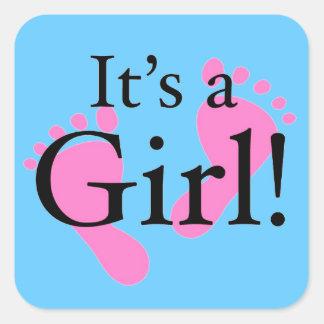 Det är en nyfödd flicka - babyen baby shower