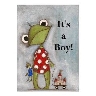 Det är en pojke! - Födelsemeddelande 12,7 X 17,8 Cm Inbjudningskort