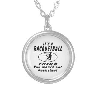 Det är en Racquetballsak som du skulle för att int Silverpläterat Halsband