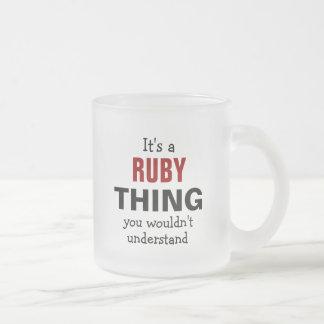 Det är en Rubysak som du skulle för att inte Frostad Glasmugg