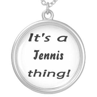 Det är en tennissak! silverpläterat halsband