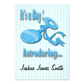 Det är ett meddelande för pojkepladderfödelse 12,7 x 17,8 cm inbjudningskort