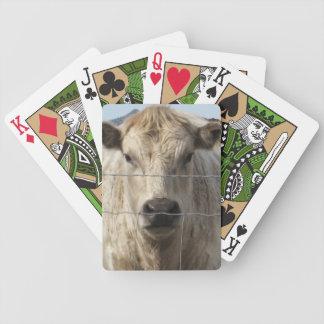 Det är ett westernt ansikte för Roundupnötkreaturc Spelkort