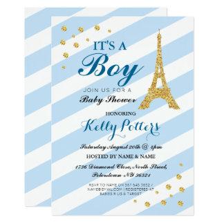 Det är för det Eiffel för pojkebaby med 12,7 X 17,8 Cm Inbjudningskort
