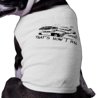 DET ÄR, HUR JAG RULLAR - Retro trafikstockning B&W Djur Tee Shirt