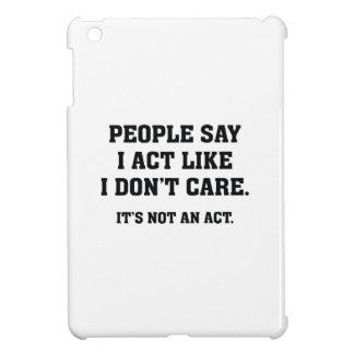 Det är inte en agera iPad mini fodral